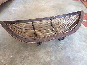 Wooden and Cane tribal boat bowl Walcha Walcha Area Preview