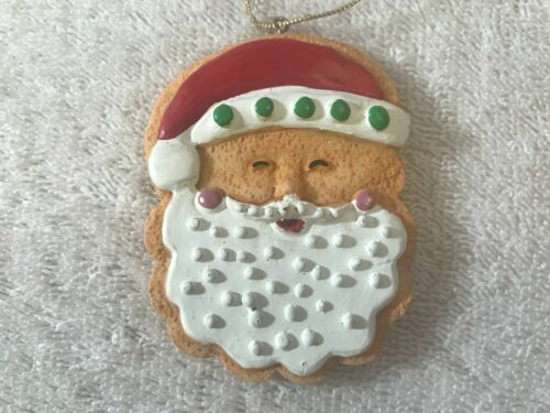 Christmas ornament resin Santa face frosted cookie EX2835