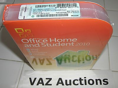 Used, Microsoft MS Office 2010 Home and Student Family Pack For 3PCs x3 =SEALED BOX= for sale  Shipping to India