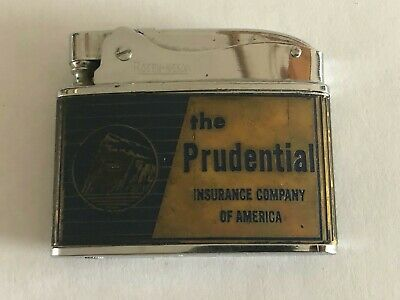 VINTAGE ROSEN NESOR FLAT ADVERTISING POCKET LIGHTER - THE PRUDENTIAL INS. CO.
