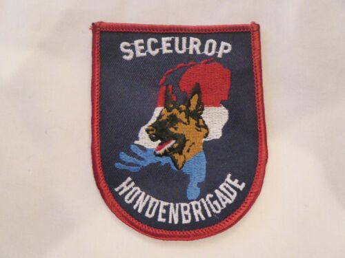 NEDERLAND SECEUROP HONDENBRIGADE UNIFORM EMBLEM PATCH, NEW UNUSED!