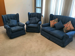 Beautiful Suede Lounge Suite Hurstville Hurstville Area Preview