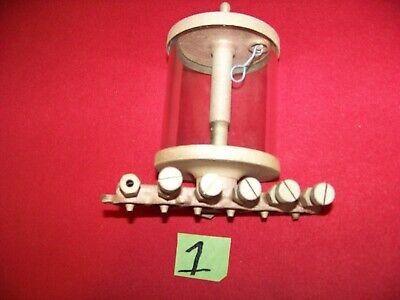 Large Brass Essex Drip Oiler Lubricator With Valve Hit Miss Engine - Steam