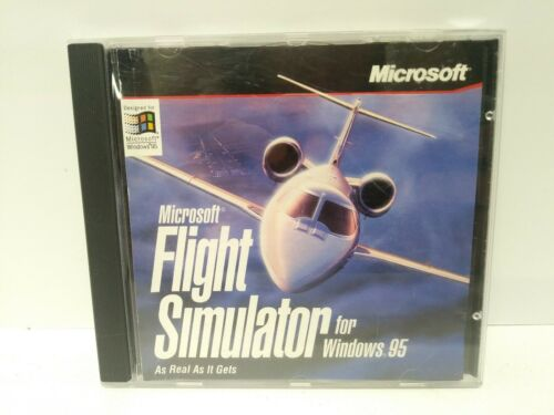 Computer Games - Microsoft Flight Simulator for Windows 95 - PC CD Computer game Complete