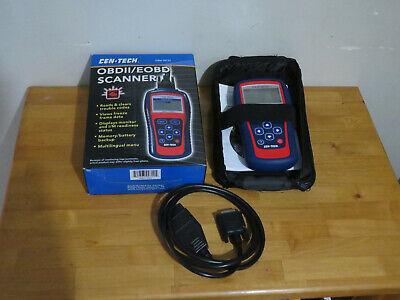 Cen-Tech OBD2 Scanner EOBD 99722 Reader w/ Cable, Software & Case - MINT IN BOX