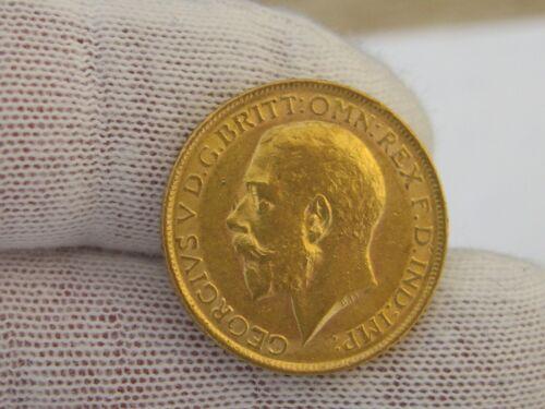 Great Britain 1911 Gold Sovereign Coin, AU/UNC, .2354 Oz. AGW!