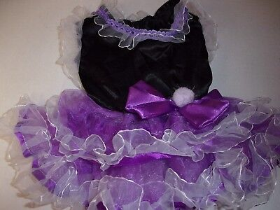 FANCY Purple RUFFLES Dog Dress S Small New Puppy extra small Pet Accessories