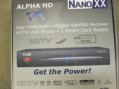 Nanoxx Alpha HD Neu HDTV Satreceiver Conax Verschlüsselungssystem Neu
