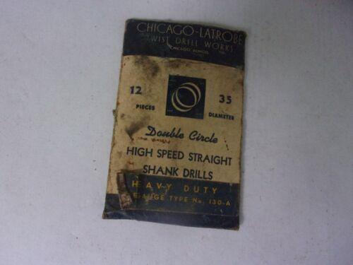 12 PACK CHICAGO LATROBE STRAIGHT SHANK H. S. WIRE GAUGE   DRILLS. N. O. S. U S A