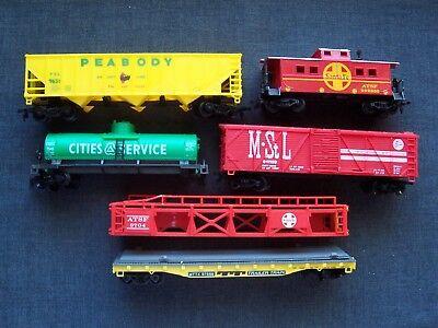HO model railroad cars - Peabody Short Line, Cities Service, M-St L, Santa Fe