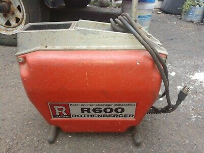 Rothenberger R600 Sewer And Drain Cleaning Machine W 45 Ft Ridgid Type Cable