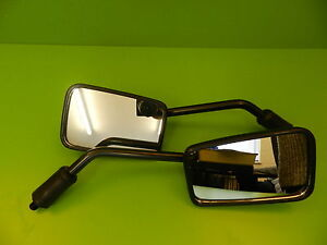 Triumph Speed Triple 750 900 Pair of Mirrors Black rectangle 10mm left right #1