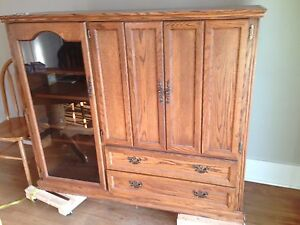 Tv cabinet.      Great as a storage unit.