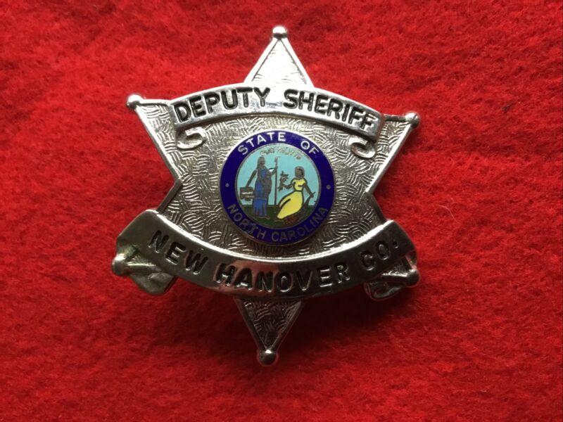 Obsolete Deputy Sheriff New Hanover County Star Badge Wilmington North Carolina
