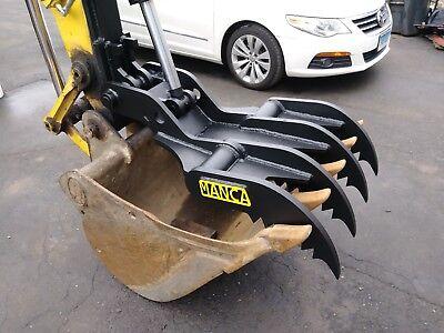 Manca Thumbs 24x42 Universal Weld On Hydraulic Excavator Thumb