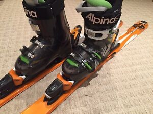 Youth Downhill Skiis and Boots for sale