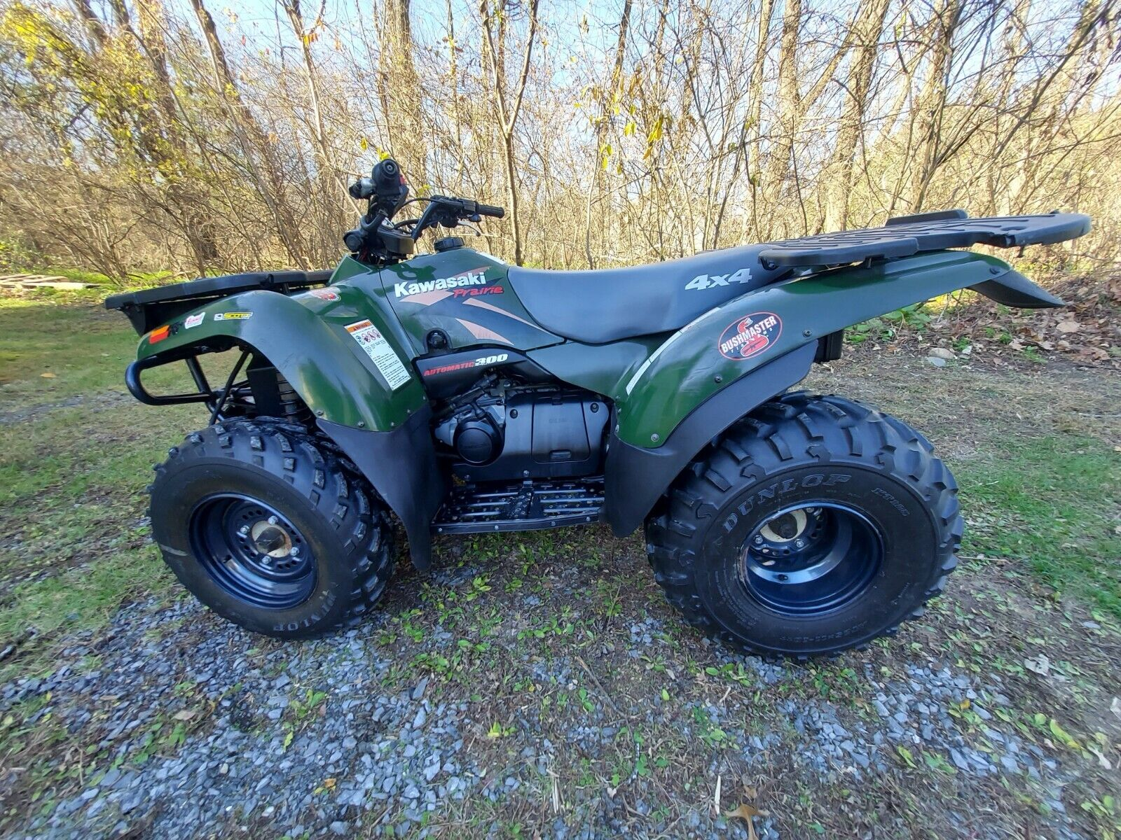 Owner 2000 Kawasaki Prairie 4 wheeler 4x4 automatic 300 low mileage, 2nd owner & PLOW