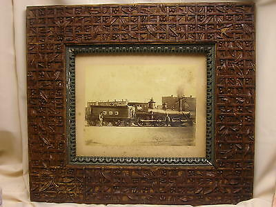 Antique C1880s Framed Picture Ccc   I Railroad Railway Cleveland Columbus