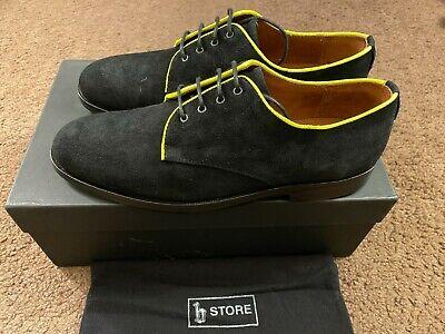 B Store Gordon Black Suede Shoes Men Size 9 Euro Size 42