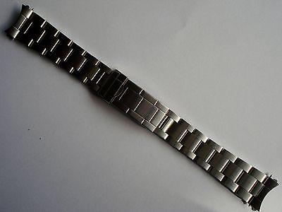 20MM FLIPLOCK STEEL OYSTER BAND BRACELET FOR ROLEX MEN EXPLORER SUBMARINER WATCH