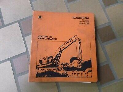 Koehring 466d 666d 866d 1066d Crawler Excavator Shop Service Repair Manual
