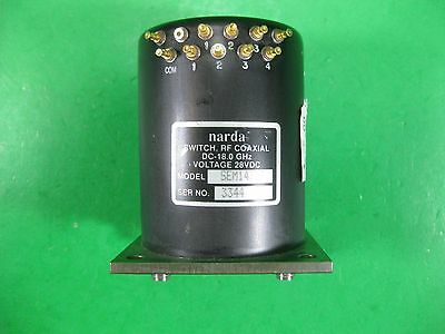 Narda Switch Rf Coaxial Dc-18ghz 28vdc -- Sem143dt -- Used