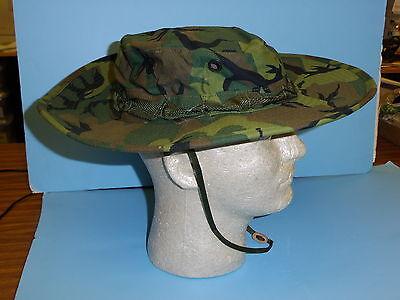 erdlh60  Vietnam Wide Brim ERDL Boonie Hat size  60/ 7 1/2 W2B