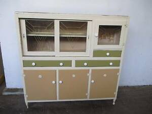 C32057 Great Vintage RETRO Oak Painted Kitchen Cabinet Dresser Mount Barker Mount Barker Area Preview