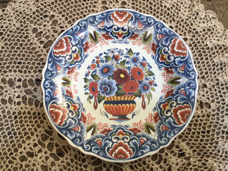 Delft Holland Pottery Polychrome Plate - Hand Painted