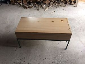 Pine chest coffee table