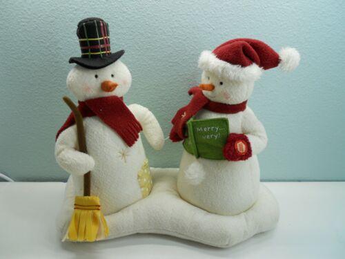 Hallmark Jingle Pals Mr & Mrs Snowman Animated Musical Singing Plush 2003