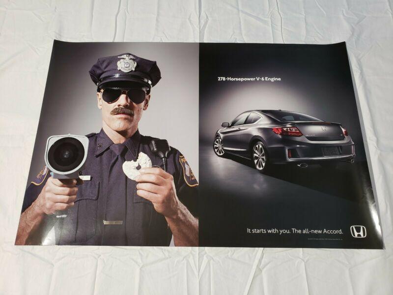 "2012 Honda Accord V-6 Police Dealership Promotional Poster 36"" × 24"" USA"