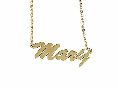 Necklace Mary Name with Gold Chain/ cadena con Nombre acero inoxidable segunda mano  Embacar hacia Mexico