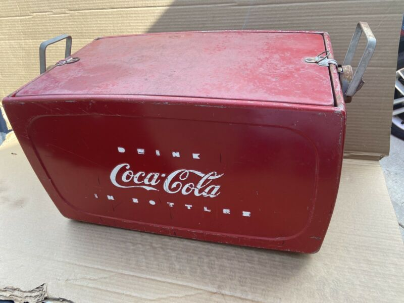 Vintage Original Authentic COKE COCA COLA Ice Chest Picnic Trunk Cooler RARE!