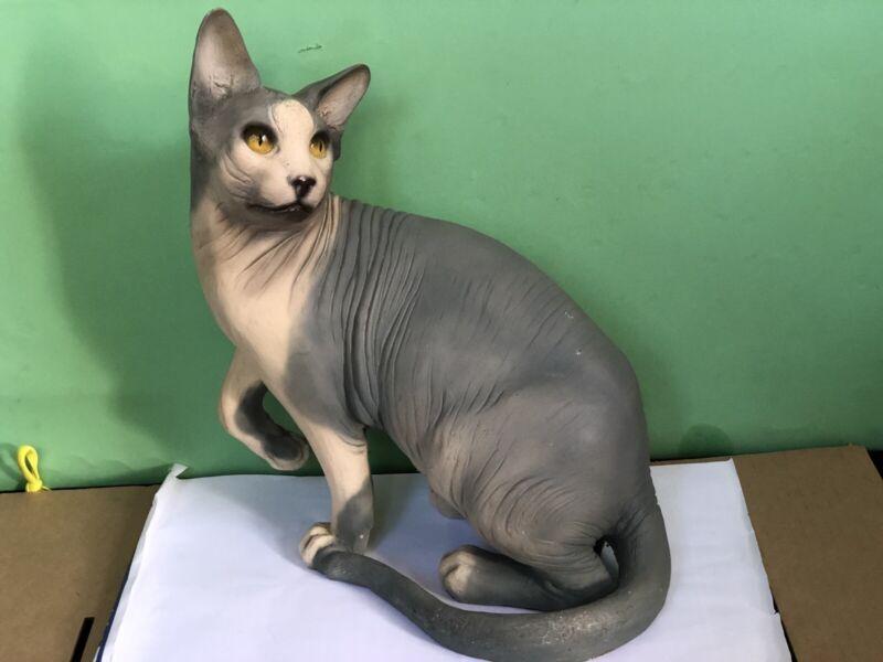 Large Siamese Ceramic /Resin Cat Statue Figure