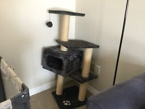 large 2 animal cat stand