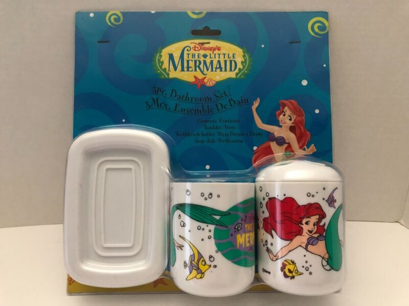 New Disney The Little Mermaid Vintage 3 piece Bathroom Set Ariel