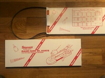 3 Starrett Metal Cutting Band Saw Blades 12x44 78