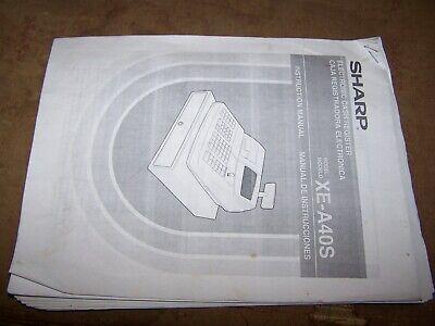 Sharp Cash Register Xe-a40s Instruction Manual