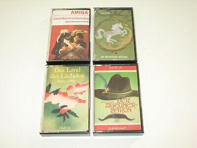4 x MC AMIGA DDR (Audiokassette Tape) Zigeunerbaron, Nacht in Venedig, Land des