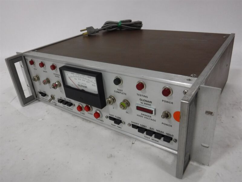 Used Glenair Model VJ2000C-10 High Voltage Cable Tester 3E