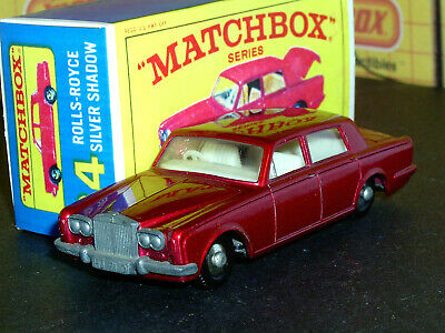 Matchbox Lesney Rolls Royce Silver Shadow 24 c1 BPT no tow SC1 EX/NM crafted box