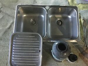 Double kitchen sink with insinkerator Lake Macdonald Noosa Area Preview