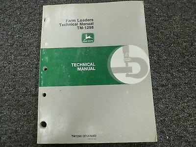 John Deere 75 80 100 110 146 148 158 Farm Loader Service Repair Manual Tm1298