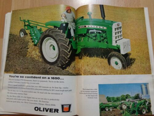 Vintage 1966 issue Farm Journal great ads 1650 Oliver 656 IH 930 Case
