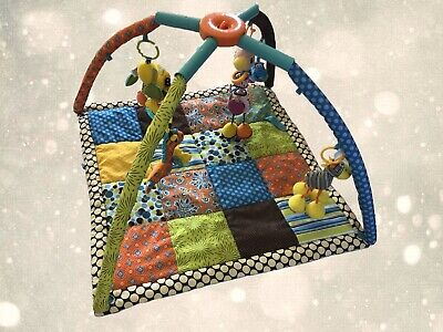 Infantino Twist & Fold Activity Gym And Play Mat Baby Infant Toddlers Soft Toys