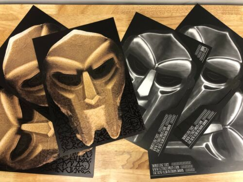 MF DOOM Mask promo for Born Like This album release. 2-Sided Punch out Cardboard