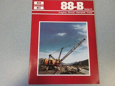 Rare Bucyrus-erie 88-b Crane Excavator Sales Brochure 1982
