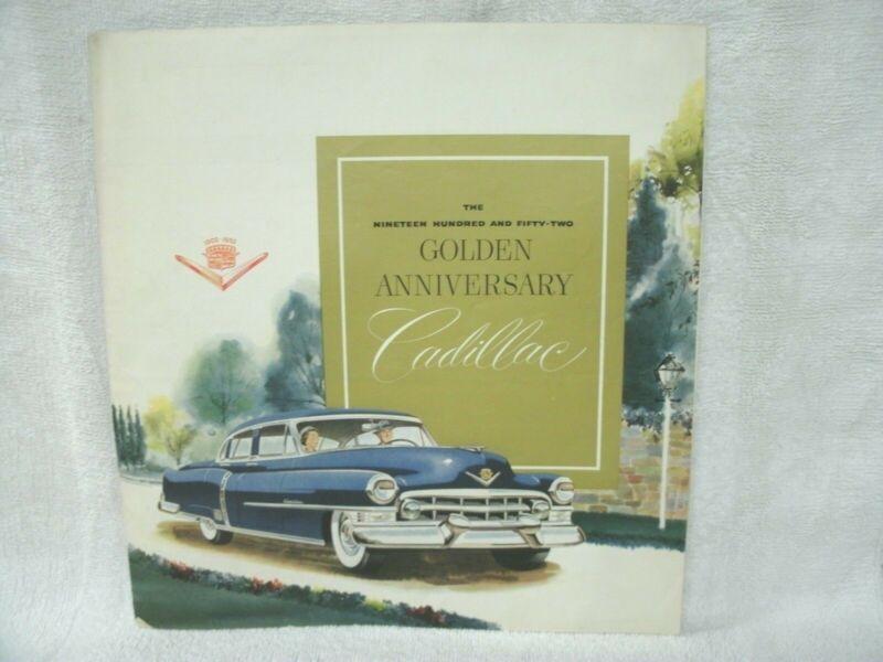 1952 Cadillac Golden Anniversary Poster--Full Line----Original Dealer Stock-Rare