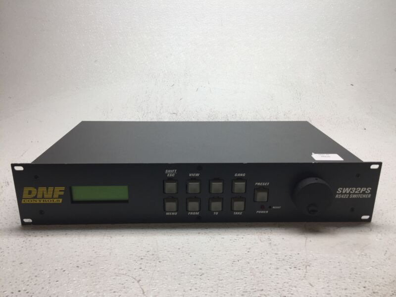 DNF SW32PS SW32PS-RCP Routing Switcher Controller Controls - Pulled f/ Working